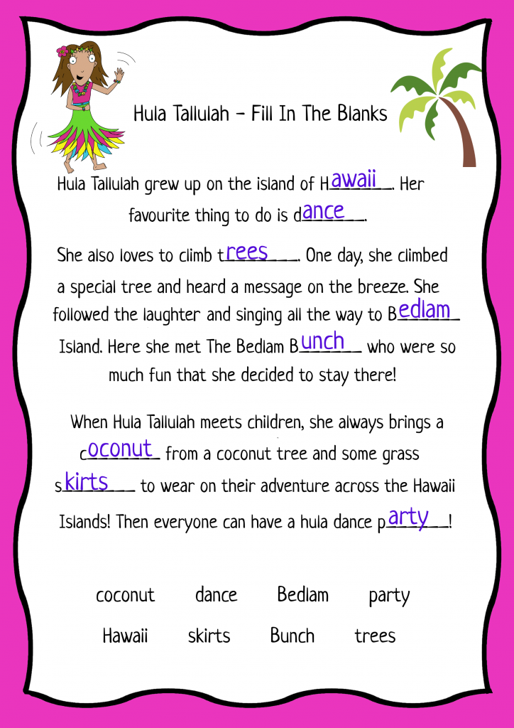 The Bedlam Bunch Children's Entertainers Puzzle Hula Tallulah